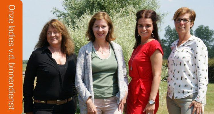 Onze Ladies V.d. Binnendienst: Caroline, Hetty, Madelon & Ilja