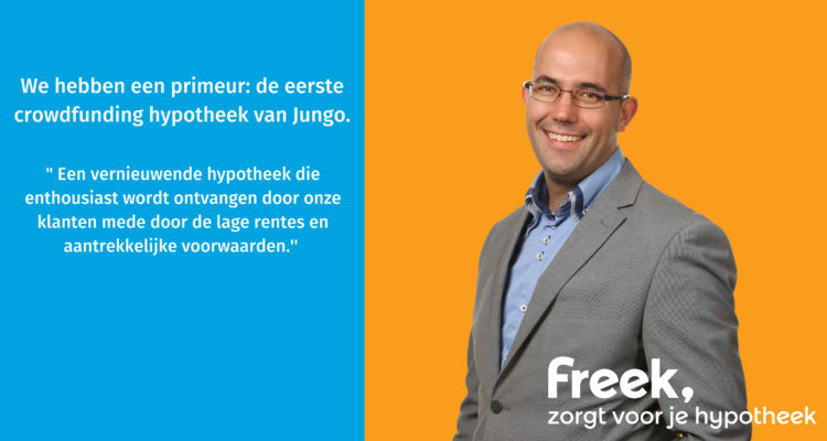 We Hebben Een Primeur: De Eerste Crowdfunding Hypotheek Van Jungo